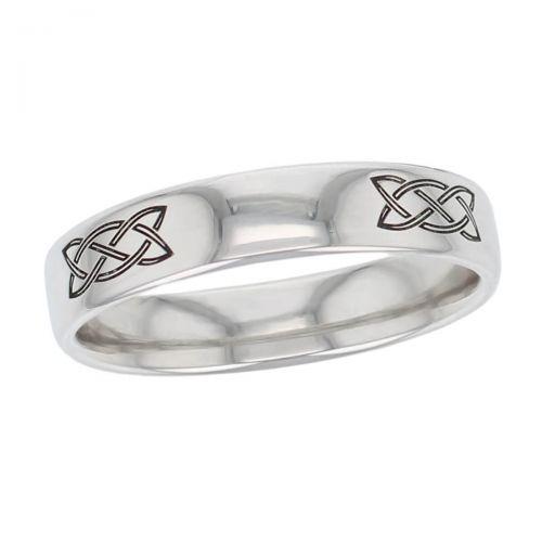 celtic knot wedding ring pattern, men's, gents, woven pattern, Irish, made by Faller, platinum