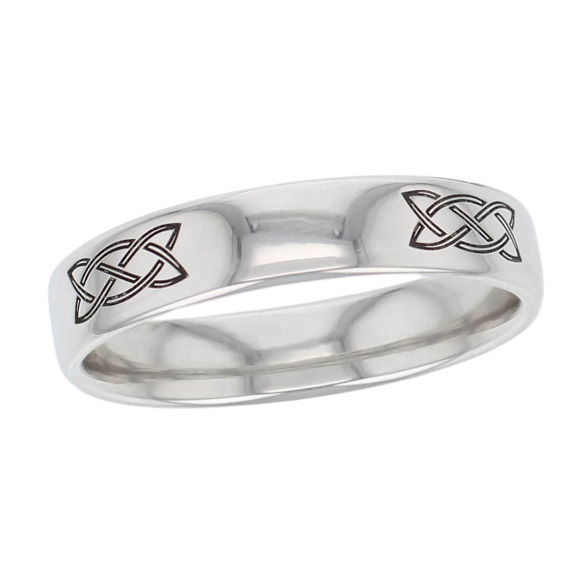 celtic knot wedding ring pattern, men's, gents, woven pattern, Irish, made by Faller, platinum