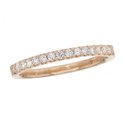 2.0mm wide 18ct rose gold ladies round brilliant cut diamond eternity ring, diamond set wedding ring, woman's bridal, personalised engraving, court profile, comfort fit, precious jewellery by Faller of Derry/ Londonderry, jewelry, claw set, 18kt