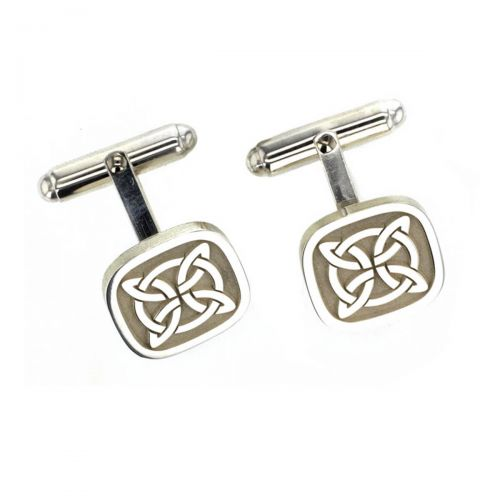 Faller Marigold pillar Stone sterling silver cross of arcs cufflinks, Carndonagh, Inishowen, Co. Donegal, celtic, ancient, monastery, St, Patrick, ladies, heritage, historical, intricate carving, Christian pilgrimage, medieval, designer, handmade by Faller, hand crafted, precious jewellery, jewelry, hand crafted custom made, personalised engraving, celtic