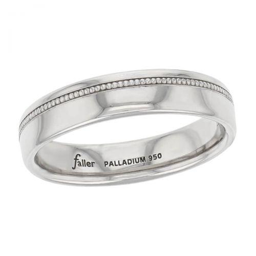 beaded off centre wedding ring pattern, men's, gents, off center