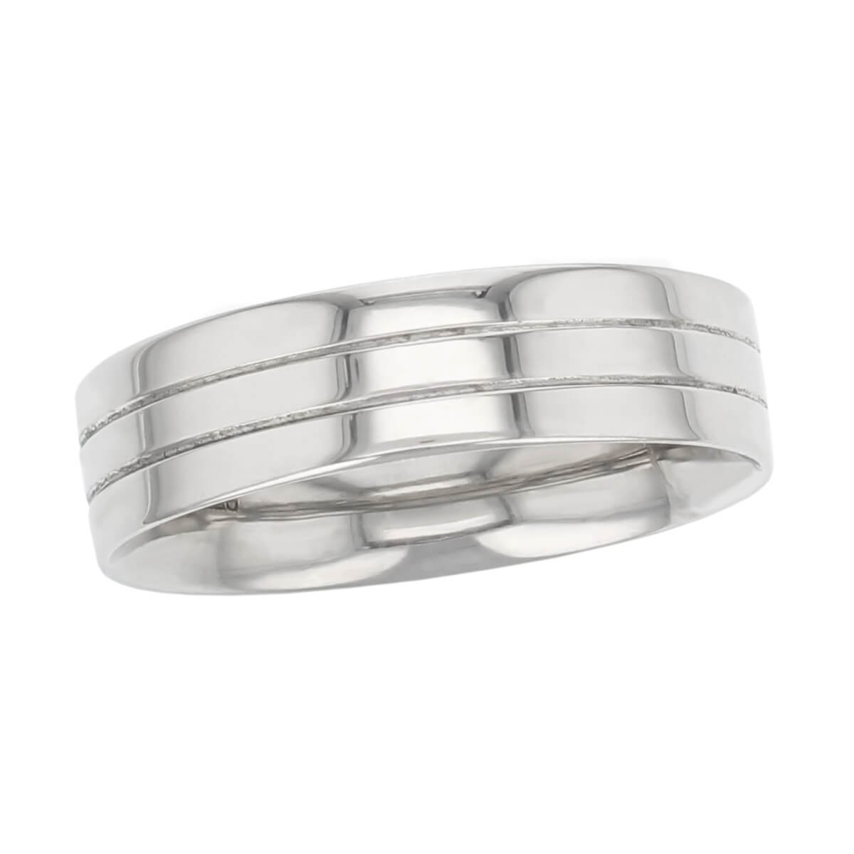 double groove polished wedding ring pattern, men's, gents, made by Faller