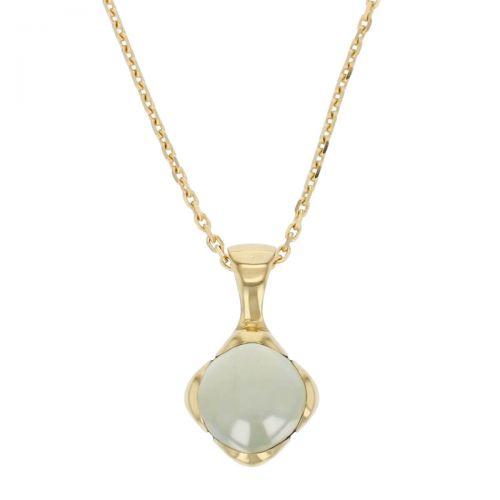 18ct yellow gold pale aqua cushion cut cabochon aquamarine gemstone pendant, designer jewellery, beryl gem, jewelry, handmade by Faller, Londonderry, Northern Ireland, Irish hand crafted, Kandy