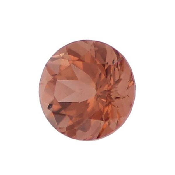 tourmaline gem, brown, loose gemstone, unset stone, round shape, faceted