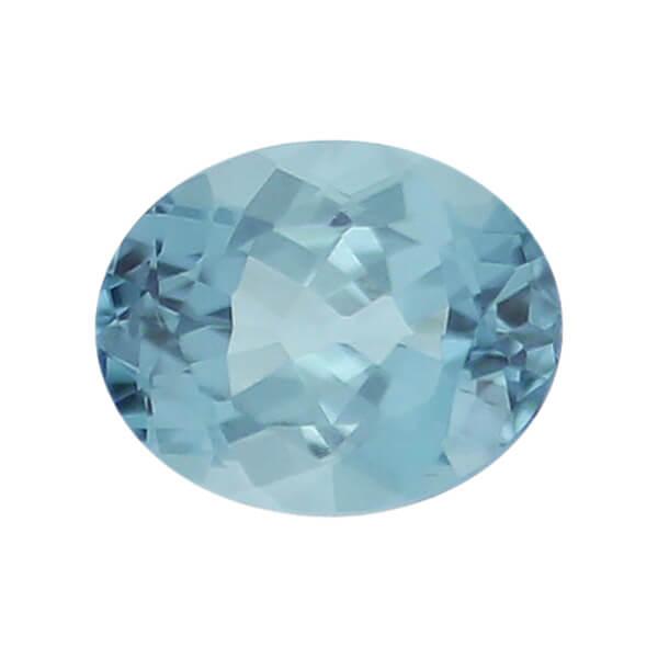 tourmaline gem, blue, loose gemstone, unset stone, oval shape, faceted