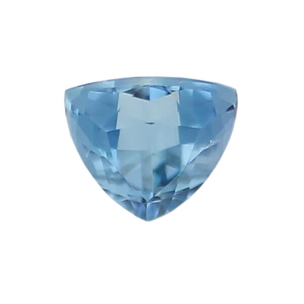 aquamarine gem, blue, loose gemstone, unset stone, trilliant shape, faceted