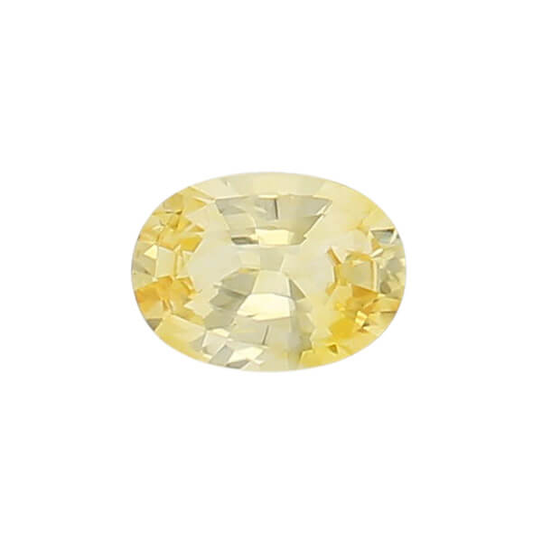 sapphire gem, yellow, loose gemstone, unset stone, oval shape, faceted