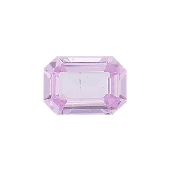 sapphire gem, pink, loose gemstone, unset stone, octagon shape, faceted