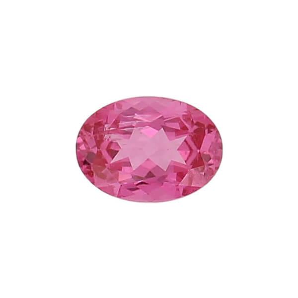 spinel gem, pink, loose gemstone, unset stone, oval shape, faceted
