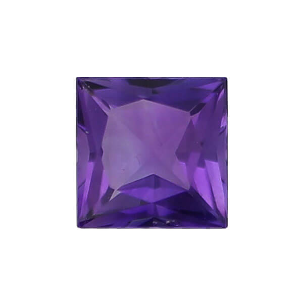 amethyst gem, purple, loose gemstone, unset stone, square shape, faceted