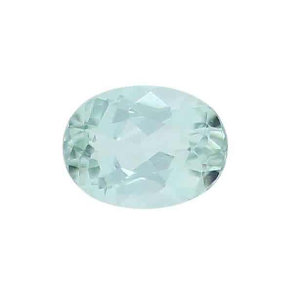tourmaline gem, blue, green, loose gemstone, unset stone, oval shape, faceted