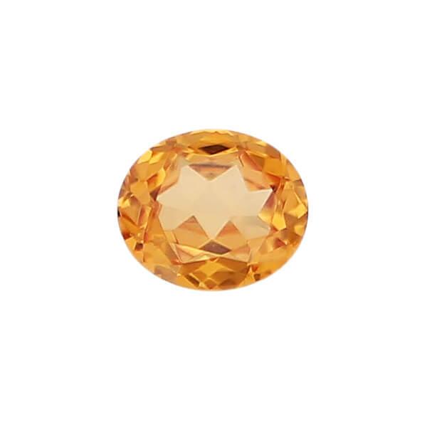 garnet gem, orange, loose gemstone, unset stone, oval shape, faceted