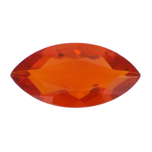 amber gem, orange, loose gemstone, unset stone, marquise shape, faceted