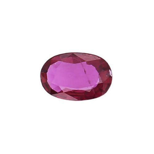 ruby gem, red, loose gemstone, unset stone, oval shape, faceted