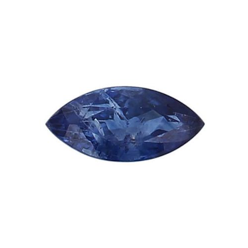 sapphire gem, blue, loose gemstone, unset stone, marquise shape, faceted