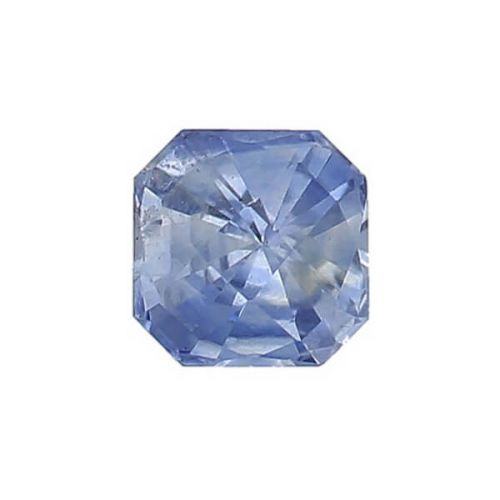 sapphire gem, blue, loose gemstone, unset stone, octagon shape, faceted