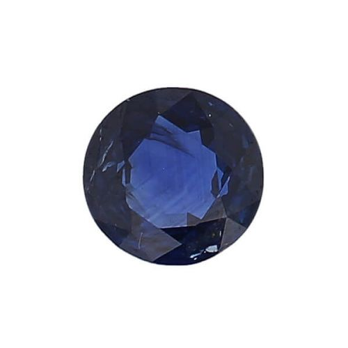 sapphire gem, blue, loose gemstone, unset stone, round shape, faceted