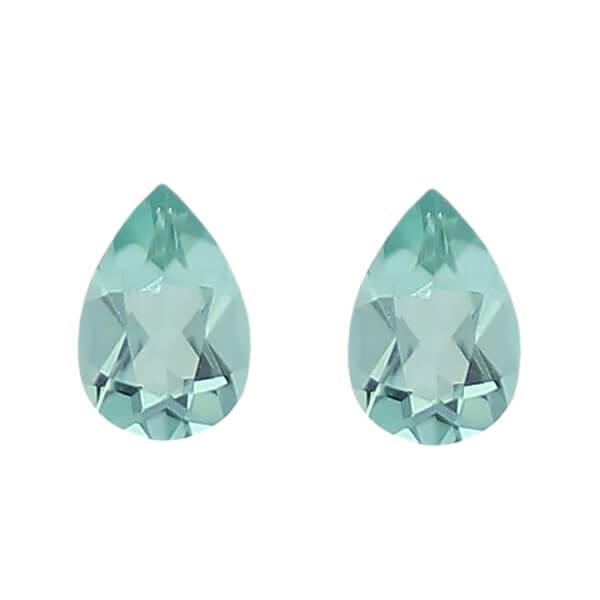tourmaline gem, blue, green, loose gemstone, unset stone, pear shape, faceted