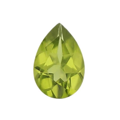 peridot gem, lime, yellow green, loose gemstone, unset stone, pear shape, faceted