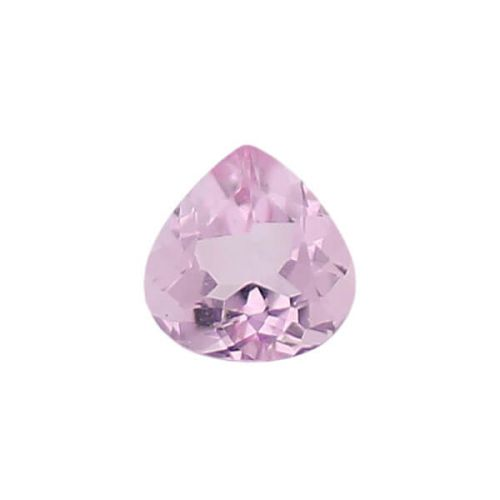 morganite gem, pink, loose gemstone, unset stone, pear shape, faceted