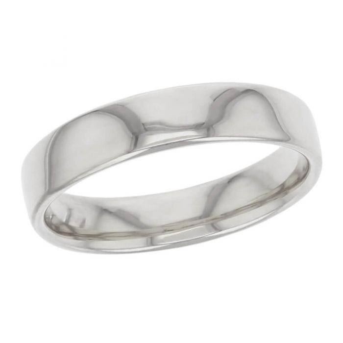 5.0mm wide platinum men's wedding ring, gents, bridal, plain, personalised engraving, court profile, comfort fit, add pattern, marraige ring, precious jewellery by Faller of Derry/ Londonderry, jewelry