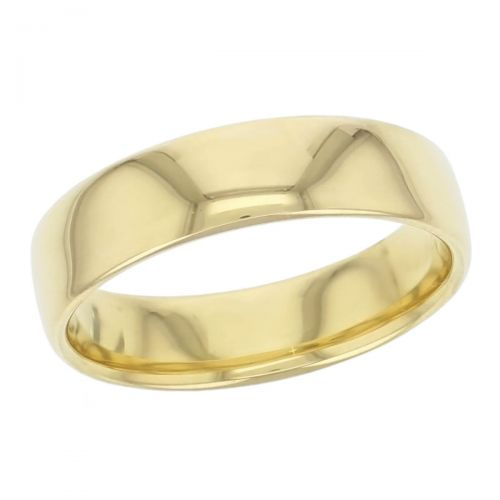 6mm wide, 18ct yellow gold, men's wedding ring, gents, bridal, plain, personalised engraving, curved profile, comfort fit, add pattern, marraige ring, precious jewellery by Faller of Derry/ Londonderry, jewelry