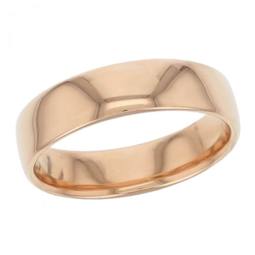 6mm wide, 18ct rose gold, men's wedding ring, gents, bridal, plain, personalised engraving, curved profile, comfort fit, add pattern, marraige ring, precious jewellery by Faller of Derry/ Londonderry, jewelry