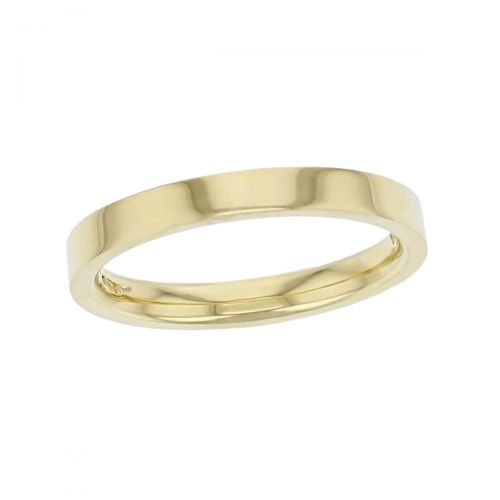 2.8mm wide 18ct yellow gold ladies wedding ring, woman's, bridal, plain, personalised engraving, flat profile, comfort fit, add diamonds, marraige ring, precious jewellery by Faller of Derry/ Londonderry, jewelry