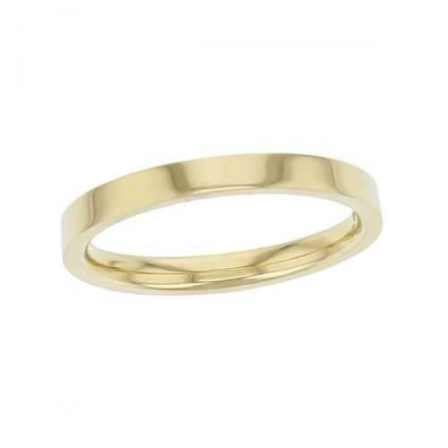 2.5mm wide 18ct yellow gold ladies wedding ring, woman's, bridal, plain, personalised engraving, flat profile, comfort fit, add diamonds, marraige ring, precious jewellery by Faller of Derry/ Londonderry, jewelry