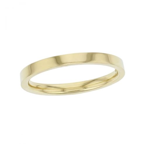 2.2mm wide 18ct yellow gold ladies wedding ring, woman's, bridal, plain, personalised engraving, flat profile, comfort fit, add diamonds, marraige ring, precious jewellery by Faller of Derry/ Londonderry, jewelry