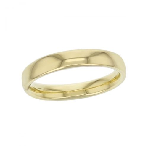 3.2mm wide 18ct yellow gold ladies wedding ring, woman's, bridal, plain, personalised engraving, court profile, comfort fit, add diamonds, marraige ring, precious jewellery by Faller of Derry/ Londonderry, jewelry
