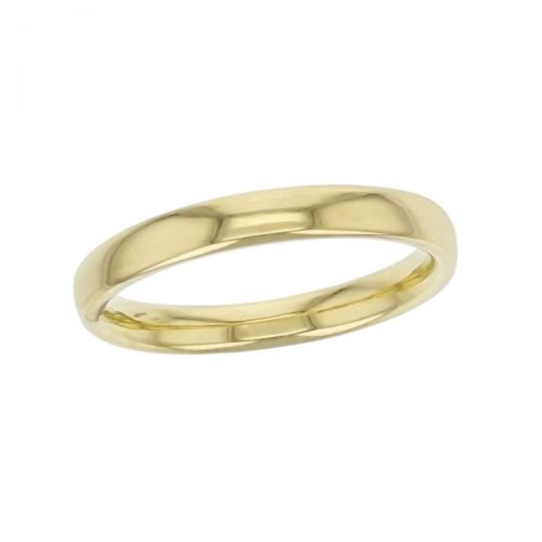 2.8mm wide 18ct yellow gold ladies wedding ring, woman's, bridal, plain, personalised engraving, court profile, comfort fit, add diamonds, marraige ring, precious jewellery by Faller of Derry/ Londonderry, jewelry