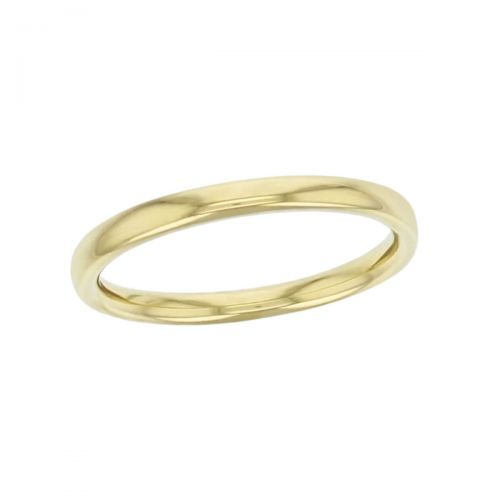 2.2mm wide 18ct yellow gold ladies wedding ring, woman's, bridal, plain, personalised engraving, court profile, comfort fit, add diamonds, marraige ring, precious jewellery by Faller of Derry/ Londonderry, jewelry