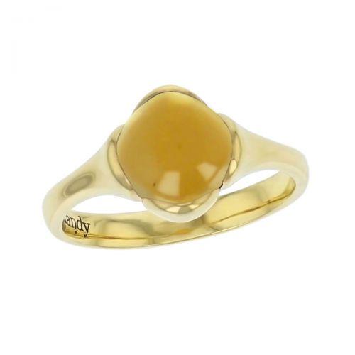 18ct yellow gold yellow cushion cut cabochon citrine gemstone dress ring, designer jewellery, quartz gem, jewelry, handmade by Faller, Londonderry, Northern Ireland, Irish hand crafted, Kandy