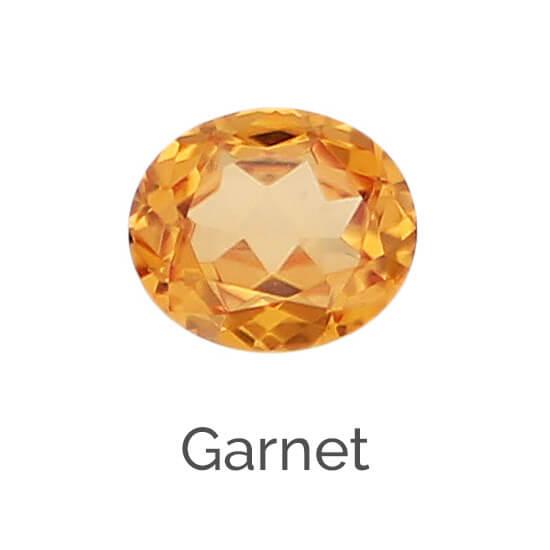 facts about garnet gemstone, blue, pink, yellow, green Tsavorite, purple Rhodolite