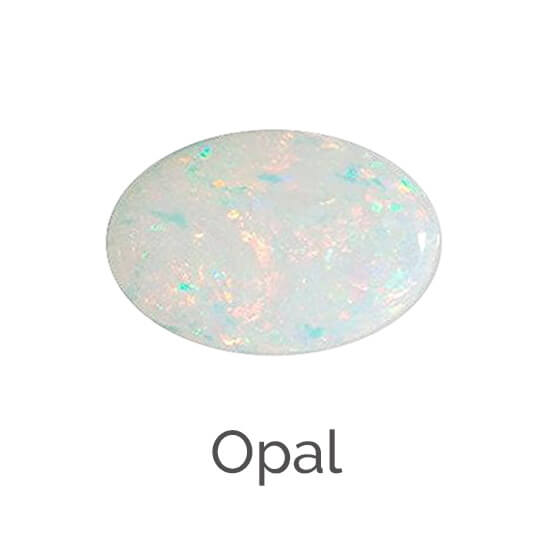 facts about opal gemstone, white opal gem, multicolored gem