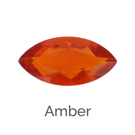 facts about faceted amber gemstone, organic gem, yellow orange