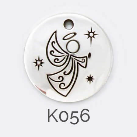 Faller Kryptos disc, Christmas angel pendant, guardian angel, religious faith, Christain,, sterling silver, message pendant, personalised engraving, make your own, jewellery, gift,