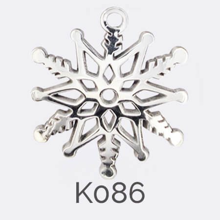 disc, sterling silver pendant, snowflake, personalised jewellery