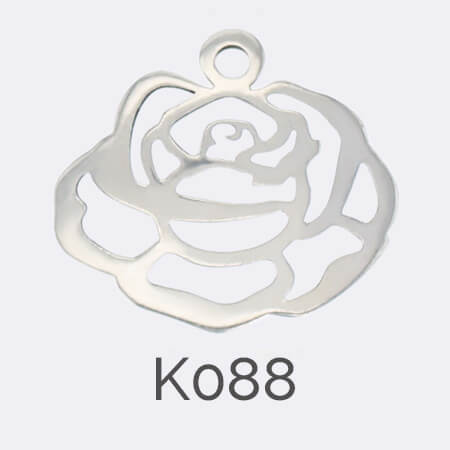 disc, sterling silver pendant, rose, flower, personalised jewellery