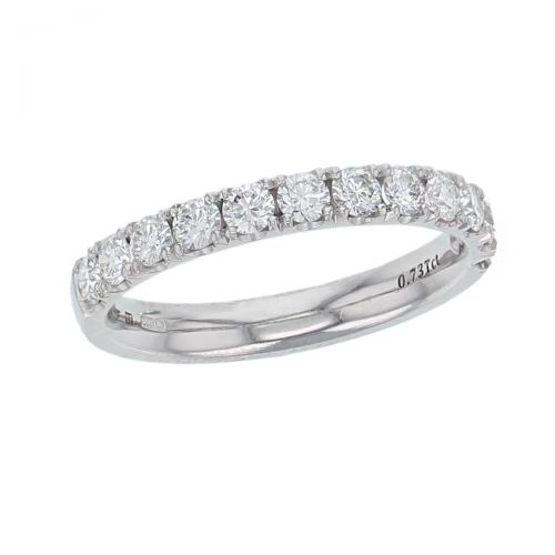 3.0mm wide platinum ladies round brilliant cut diamond eternity ring, diamond set wedding ring, woman's bridal, personalised engraving, court profile, comfort fit, precious jewellery by Faller of Derry/ Londonderry, jewelry, claw set