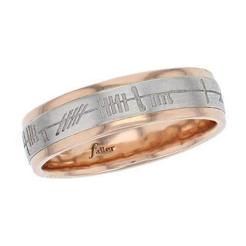 18ct rose gold & platinum dress ring, Irish, celtic, ogham inscription love, loyalty & friendship, mens wedding ring, woman's ring, men's jewellery, mens jewellery