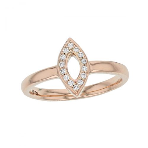 Faller round brilliant cut diamond marquise shape 18ct rose gold ladies ring, 18kt, designer dress ring, handmade by Faller, Derry/ Londonderry, hand crafted, precious jewellery, jewelry, marquise. navette halo