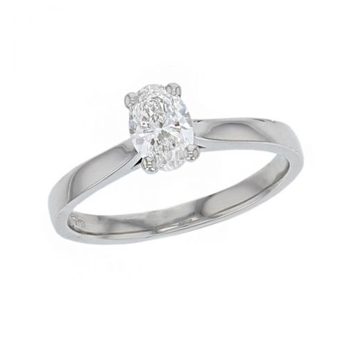 oval brilliant cut diamond solitaire engagement ring, platinum, designer, handmade by Faller, hand crafted, betrothal, promise, precious jewellery, jewelry, hand crafted, GIA certified, G.I.A. GIA