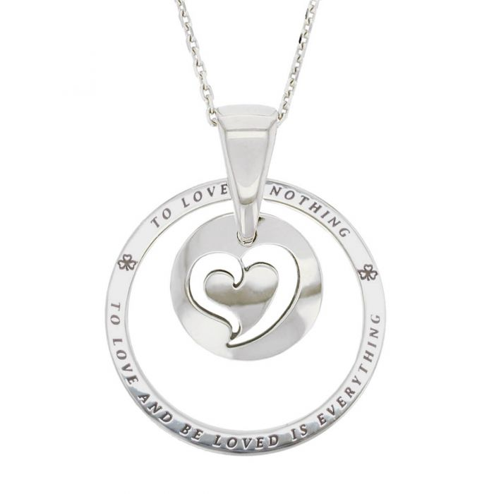 Faller Kryptos necklace, sterling silver, message pendant, personalised engraving, make your own, jewellery, gift, celebration, symbol, true love, heart pendant