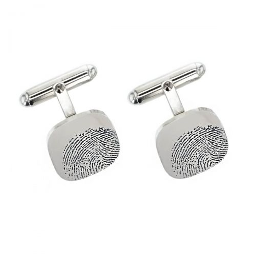 custom engraved cufflinks, by Faller, fingerprint engraving, thumbprint engraving , gift for Dad, gift for husband, personalised gift, unique cufflinks, men's jewellery, mens jewellery, men's gifts, mens gifts