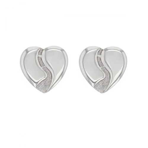 Heart of Derry, silver studs, heart earrings, gift for Derry girls, River Foyle pendant, Peacebridge, Craigavon Bridge, Derry/ Londonderry gift, jewellery gift for women, unique, hand crafted jewelry, personalised jewellery, love & pride