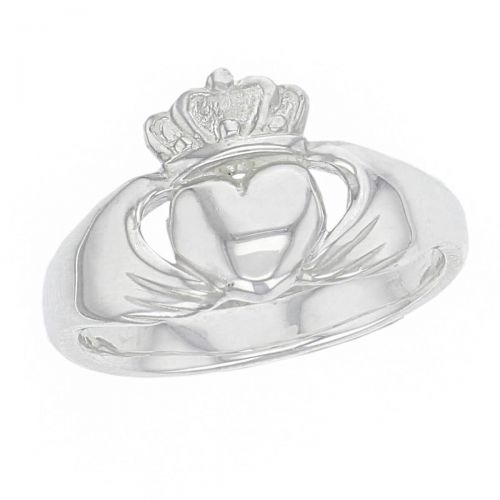 Faller Claddagh, sterling silver, Irish, love, loyalty & friendship, hands, heart & crown, dress ring, men's