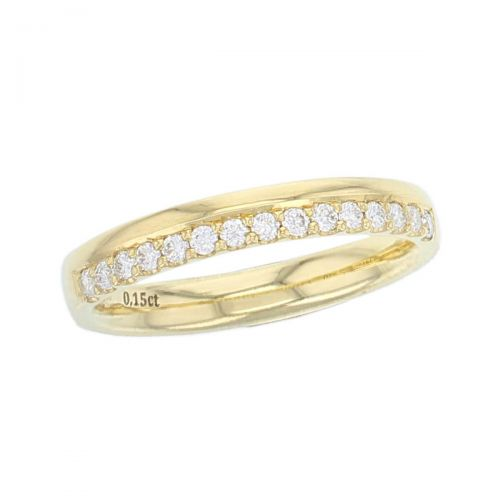 18ct yellow gold, ladies round brilliant cut diamond eternity ring, wedding ring, personalised engraving, court profile, comfort fit, precious jewellery by Faller of Derry/ Londonderry, jewelry, claw set