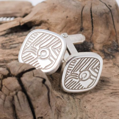 silver cufflinks, sterling silver cufflinks, Prehistoric rock art jewellery, petroglyph jewellery, designer pendant, ancient Irish, historical jewellery, archeology, Archaeology, primitive jewellery, landscape art, irish rock art, atlantic rock art, cup & ring art jewellery, Isle of Doagh , treasures of Inishowen, donegal heritage, Irish heritage, jewellery for men, men's jewellery